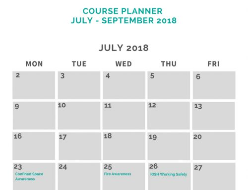 Cosaint Training July, August & September Course Planner